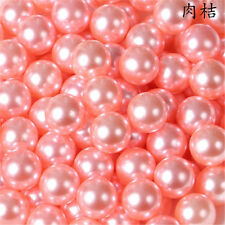 Wholesale 2-14mm no hole Glass  Pearl whole circle Spacer Loose charm Beads DIY