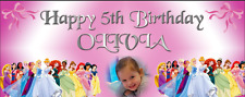 Large Personalised Birthday Party Banner Decorations Disney Princess