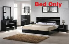 Black Lacquer Modern Barcelona Bedroom 1 pcs Queen Size bed Furniture Set