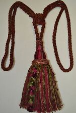 "Curtain/Chair Tie-Back- 29"" Spread 9"" Tassel - 3 colors to choose from"