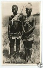 """BJG Early Acutt of Durban Ethnic Postcard, """"Young Zulu Maidens"""" - Some Nudity"""