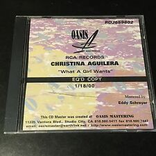 "RCA RECORDING STUDIO MASTER PROMO CD CHRISTINA AGUILERA ""WHAT A GIRL WANTS"" RDJ"