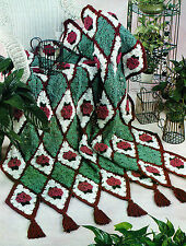 LOVELY Diamond Rose Afghan/Crochet Pattern Instructions