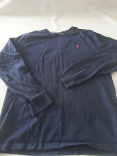 POLO RAPLH LAUREN  BOYS XLARGE XL 18-20 BLUE LONG SLEEVE SHIRT RED PONY LOGO