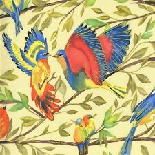 Fat Quarter Valencia Bird Kiss Cream 100% Cotton Quilting Fabric Michael Miller