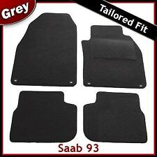 Saab 93 Tailored Carpet Car Mats GREY (2002 2003 2004 2005 2006 2007 2008 ...)