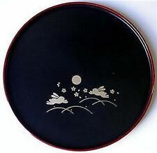 Japanese Dinner Sushi Serving Plate Round Bunny #6419 S-2941 AU
