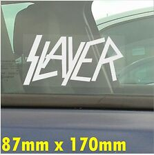 Slayer-Self Adhesive Car Window Vinyl Sticker-Heavy Metal Graphic Decal Sign