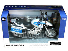 Automaxx 600404 Bmw F650 GS Police Polizei Bike Motorcycle 1:12 Silver