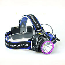 Bright 2000Lm CREE XM-L L2 LED 3-Mode Headlight Head Torch Lamp + USB Charger