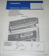 Einbauanleitung Volvo 760 Einbau Verwahrungsfach Fach Stand Februar 1982!
