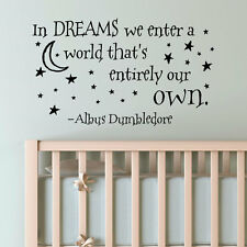 Wall Stickers In Dreams We Enter A World Harry Potter vinyl decal decor Nursery