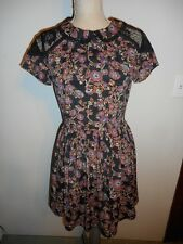 TopShop FAB! Vintage Inspired School Girl Lace Inserts Tea Dress  US 4,  UK 8