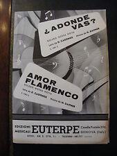 Partition Adonde vas? Amor flamenco Daitner Castenos Boléro Bossa Nova