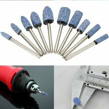 10pc Blue Abrasive Mounted Stone Rotary Tool Grinding Wheel 1/8 Shank For Dremel