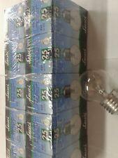 LOTTO STOCK PEZZI 10 LAMPADINE INCANDESCENZA E27 25W SFERA CHIARA