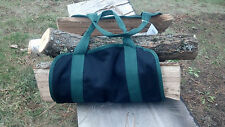 "Log carrier Canvas Double stitched Heavy duty  32"" long X 15"" wide Firewood bag"