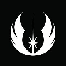 JEDI Emblem Star Wars VII 7 1 2 3 Bumper Sticker Window Car Truck Decal Vinyl