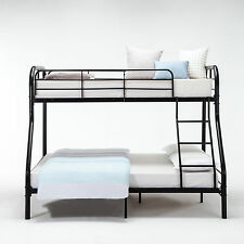 Twin over Full Bunk Beds Ladder Kids Teens Metal Adult Dorm Bedroom Furniture