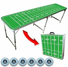 Football Field 8FT Beer Pong and Tailgating Table