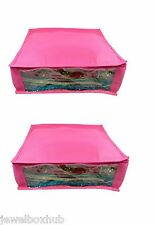 2 Pcs Pink Saree Garment suit shirt cloth organizer covers  keep 5-6 sarees