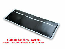 1 x Car Van Road Tax,  Insurance, NCT Disc Holder Black - New Wallet Permit