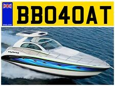 BB04 d'avoine vitesse étroit yacht canot remorque bateau des constructeurs navals numéro privé plaque