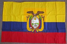 EQUADOR FLAG - 1980s Vintage Official US Government Military Issue & Embassy