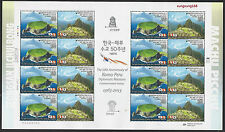 South Korea 2013 FULL S/S Peur Joint Issued Diplomatic Relations Stamp