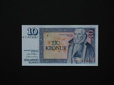 ICELAND BANKNOTES  -  SUPER TEN KRONUR HISTORIC BANKNOTES   * TOP UNC *