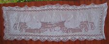 """Handmade knitted shawl/stole """"Swan song"""" in white"""