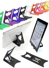 "Apple iPad, Galaxy Tab, 9"" 10"" Computer Tablet  Holder BLACK iClip Folding Stand"