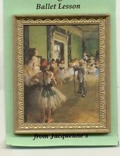 "Painting ""Ballet Lesson""  Degas dollhouse miniature 1/12 scale 9807FW wood frame"