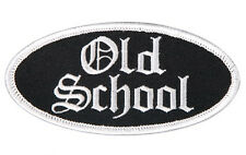 OLD SCHOOL OVAL EMROIDERED 4 INCH IRON ON MC BIKER PATCH
