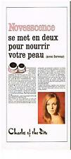 PUBLICITE  1969  CHARLES OF THE RITZ   NOVESSCENCE  cosmétiques