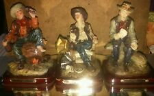 Set of 3 Ashley Belle Western Cowboy Figurines