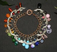 Rainbow  Guardian Angel Charm Bracelet  - Healing, Magic, Love, Help, Protection
