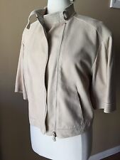 NWOT *GORGEOUS* Brunello Cucinelli Lamb skin Leather Jacket Size Italy 38
