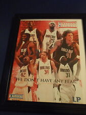 DALLAS MAVERICKS-FAN PACKAGE-FRAMED TEAM PICTURE AND EXTRA STUFF