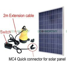 Solar Powered Pump Kit: 100W Solar Panel W/ Water Pump for Garden Pond Pool
