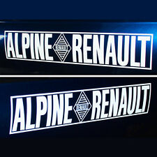 Alpine Renault pair stickers decals 450mm L 90mm H rally A110 A310 cut vinyl .