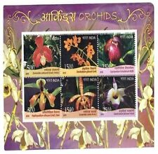 India 2016 Orchids MINIATURE SHEET 6 MNH Stamps