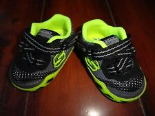 Baby Boys Skechers Black/Lime Shoes Size 1 NWOT!