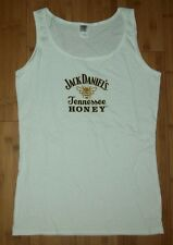 JACK DANIELS TENNESSE HONEY PROMO Ladies White Tank Top T-Shirt Size S/Small NEW