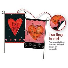 Be Mine Valentine's Day Hearts Small Garden Flag 2 Designs in one