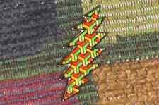 Dead Head Rasta Reggae 13 Point Lightning Bolt Enamel Lapel Hat Pin