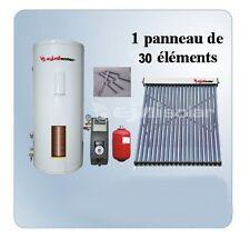 Chauffe-eau solaire Kit 300 Litres INOX + 1 Panneau 30 Tubes + Station