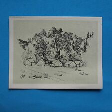 PHILMONT - BLANK NOTE CARD - TENTING AREA - POBIL CAMP  BSA - BOY SCOUTS - w208