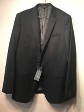 NWT Banana Republic Slim Solid Wool Suit Black Jacket Blazer 38R 38 R  # 257819