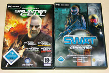 PC SPIELE SAMMLUNG - SPLINTER CELL & SWAT GENERATION - PANDORA CHAOS DOUBLE 2 3